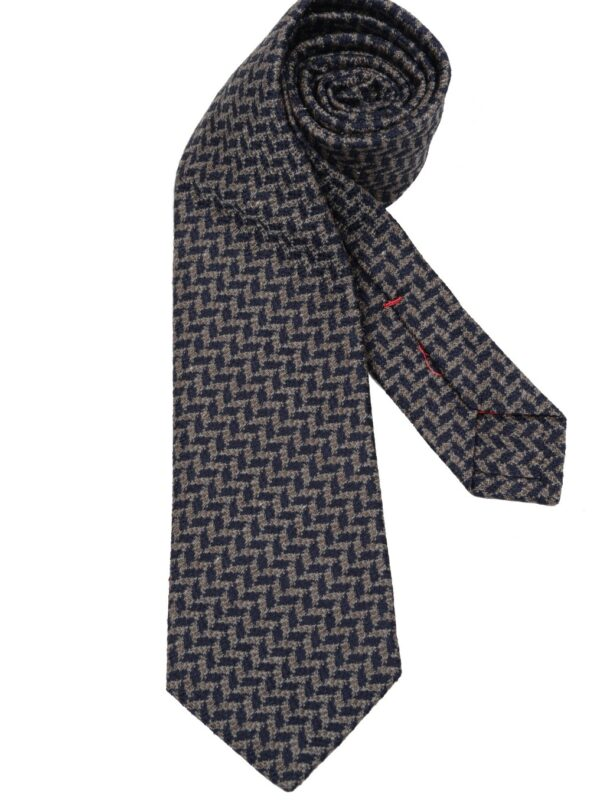 Isaia Napoli sevenfold tie geometric