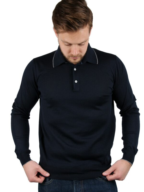 Della Ciana wool pullover navy