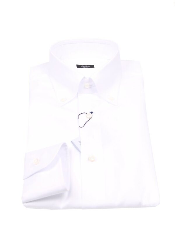 Barba Napoli button down shirt white