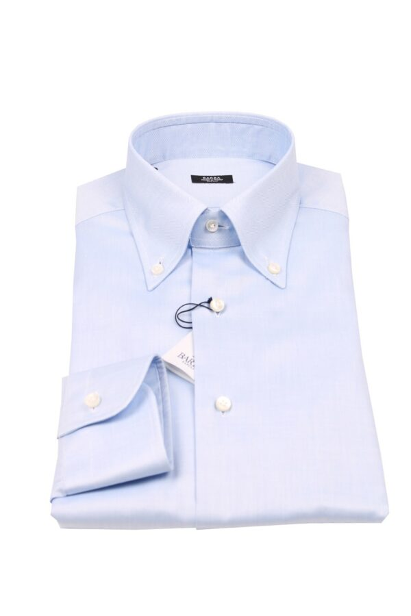 Barba Napoli button down shirt blue