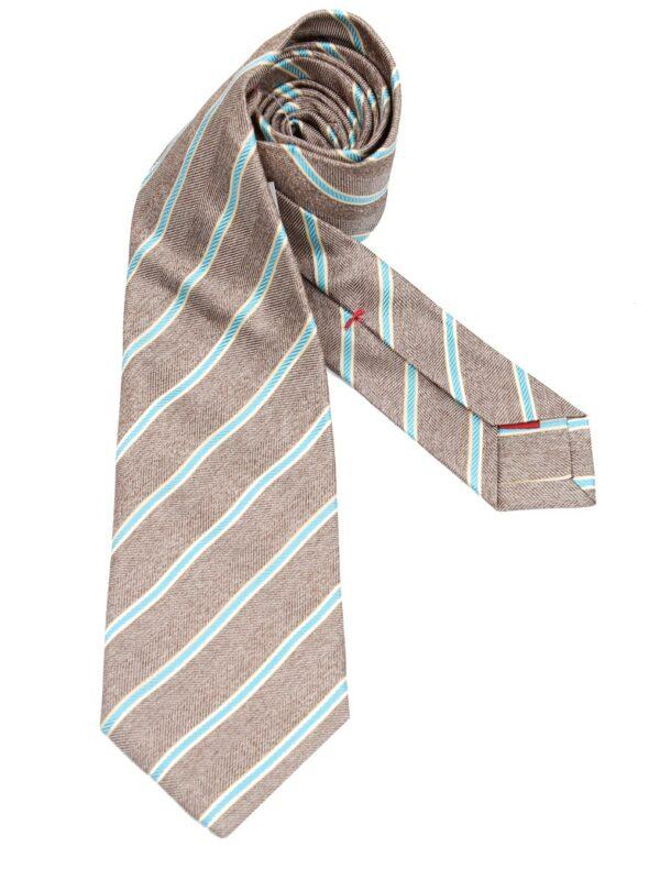 Isaia Napoli sevenfold tie striped