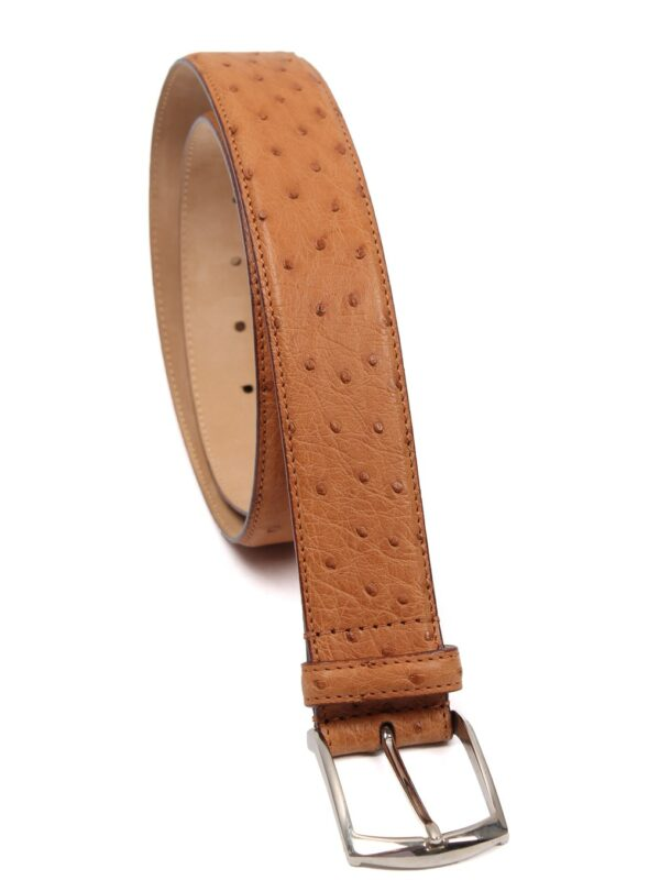 Simonnot Godard ostrich leather belt