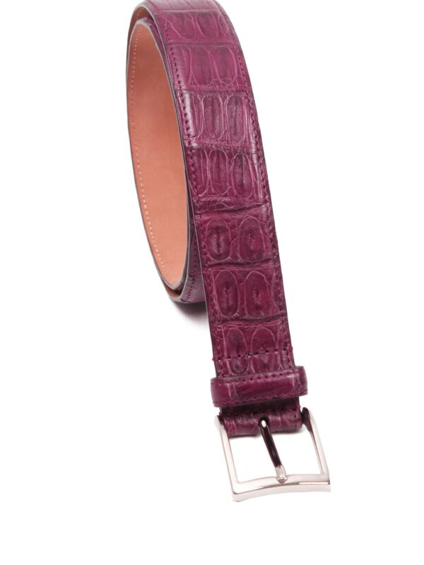 Simonnot Godard crocodile belt