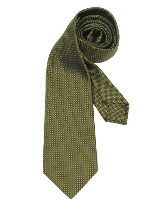 Kiton Napoli silk tie green