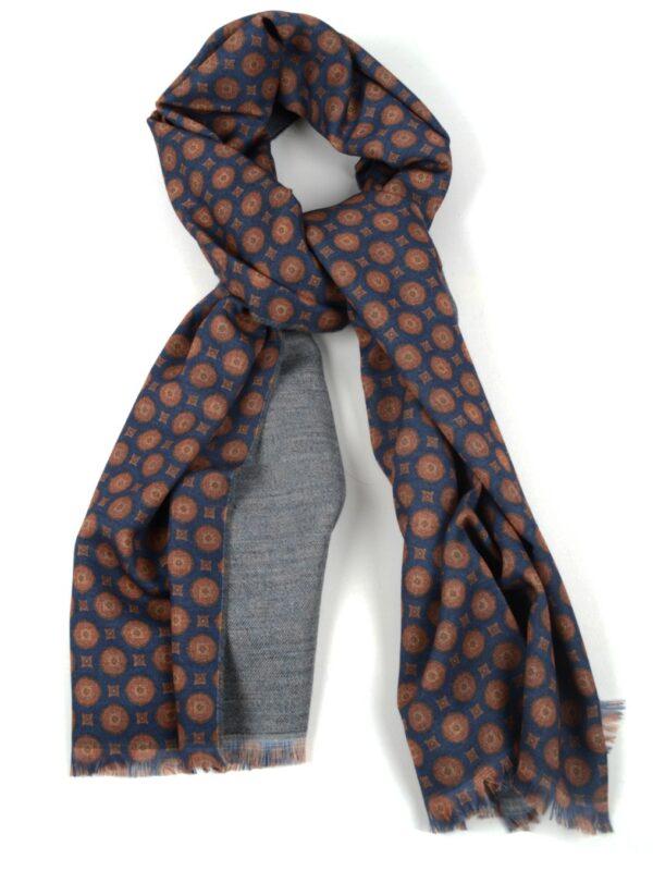 Cordone1956 wool scarf geometric pattern