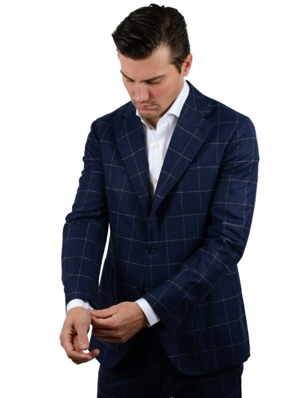 Cordone1956 flannel suit checkered