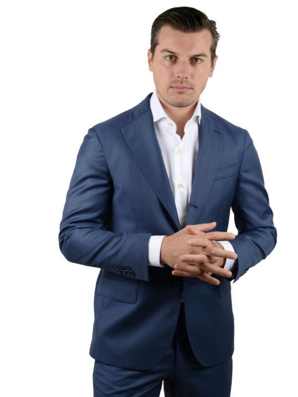 Cordone1956 suit s130 ice blue