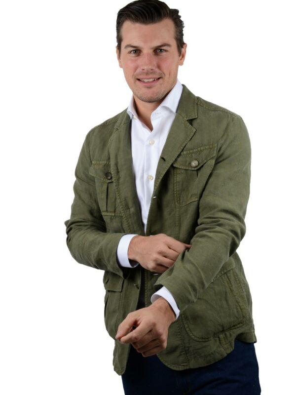 Boglioli linen shirt jacket