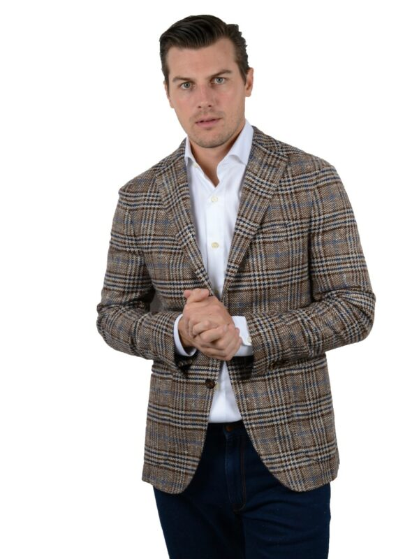 Boglioli blazer linen wool silk