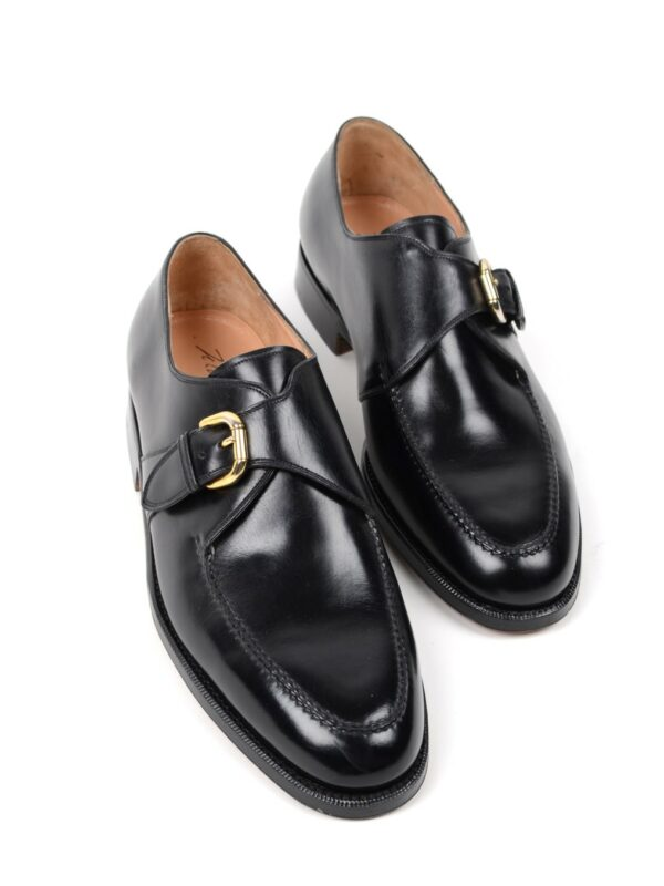 Silvano Lattanzi single monk shoes black