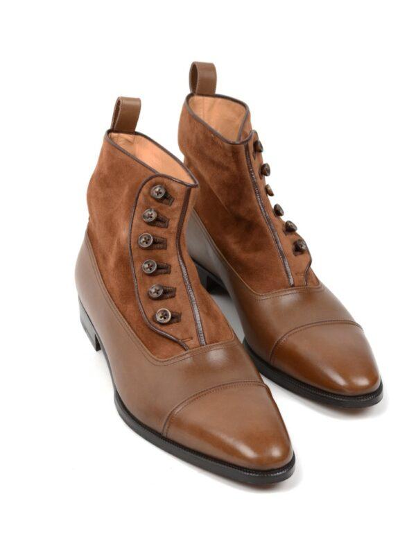 Enzo Bonafe button boot cognac