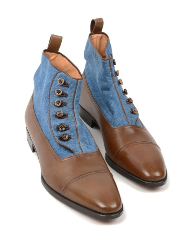 Enzo Bonafe button boot brown blue
