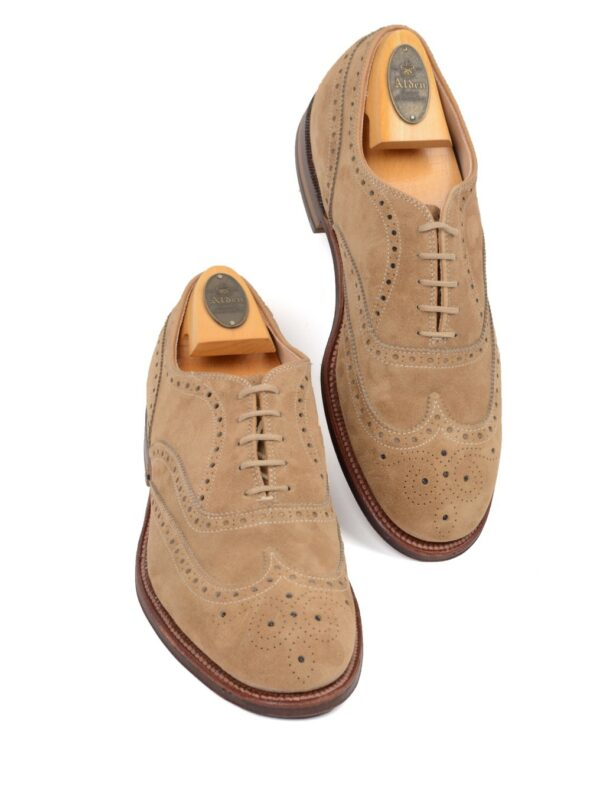 Alden suede shoes beige