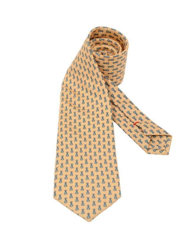 Cordone1956 silk tie yellow