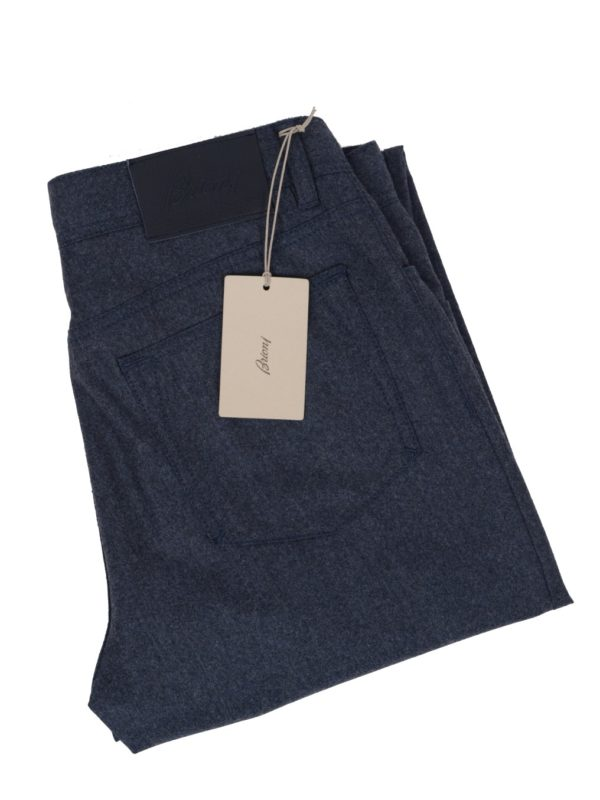 Brioni flannel five pocket pant