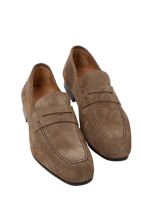 Paolo Scafora penny loafers reversed suede