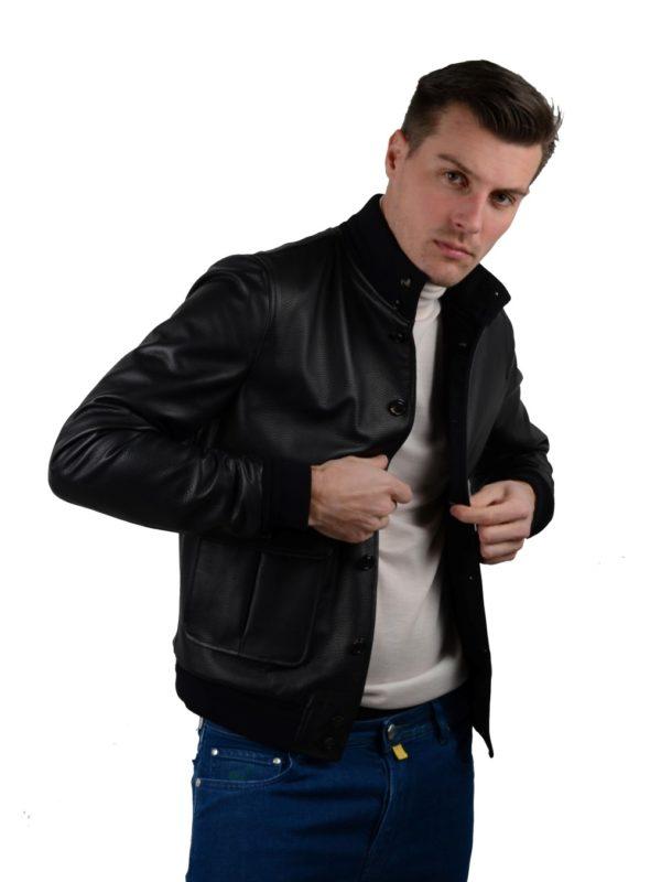 Valstarino leather jacket Loro Piana cashmere