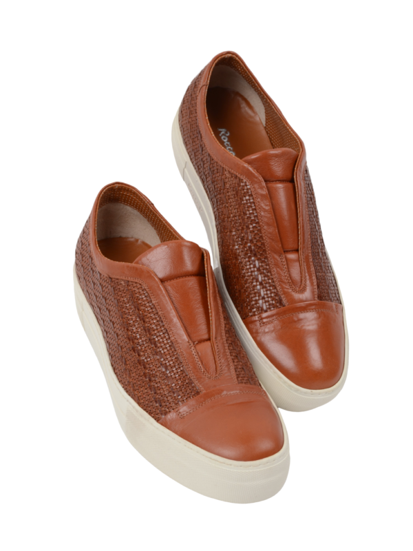 Rocco P. leather sneakers brown