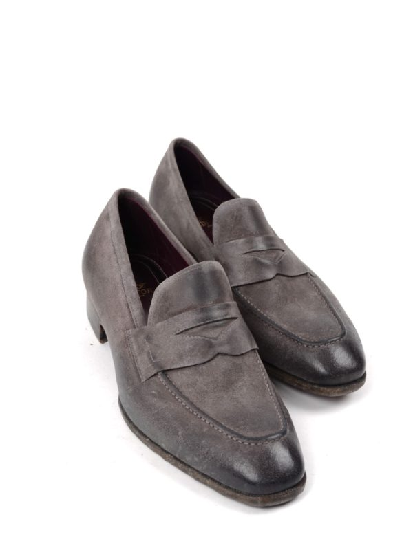 Lidfort penny loafers gray stone effect