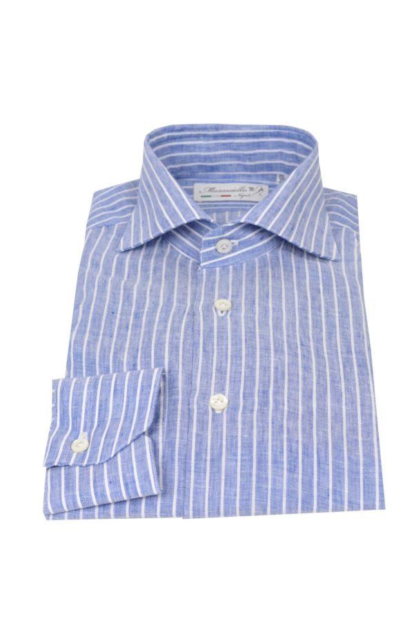 Masaniello Napoli handmade shirt linen