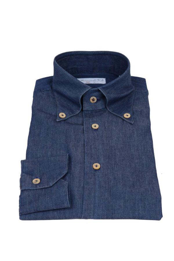 Masaniello Napoli handmade shirt denim