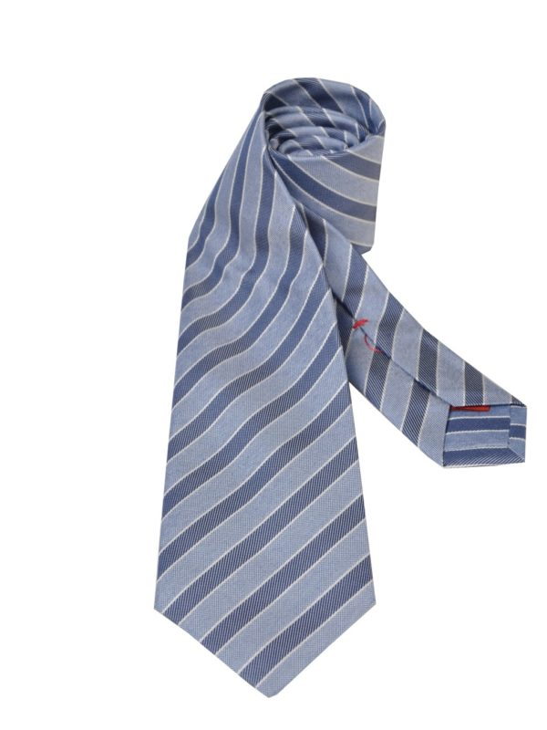 Isaia silk tie striped