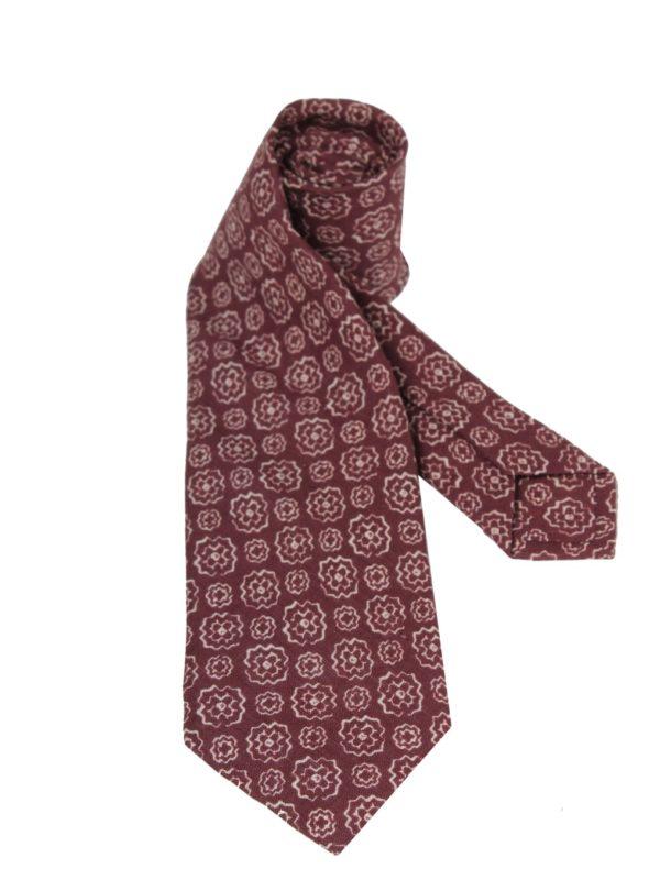 Isaia linen sevenfold tie