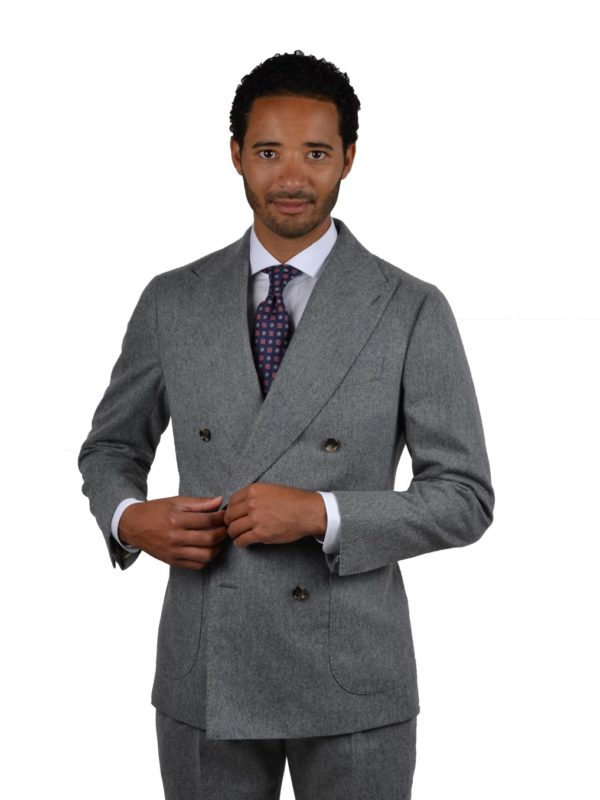 Stile Latino flannel suit gray