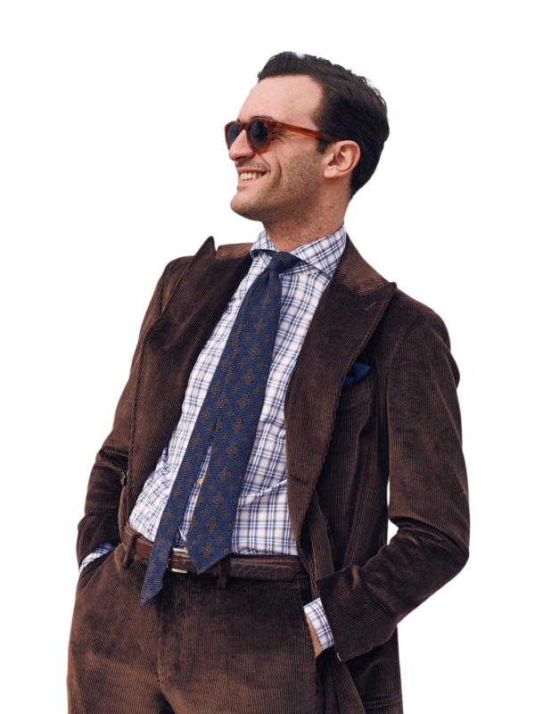 Stile Latino corduroy suit