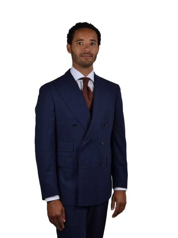 Stile Latino wool double breasted suit