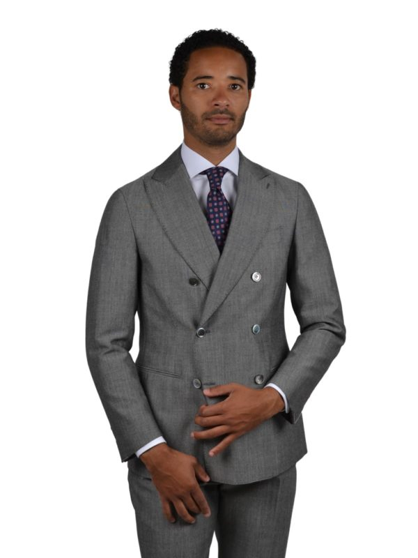 Stile Latino wool mohair double breasted suit