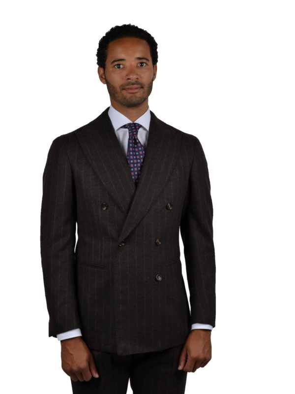 Stile Latino wool chalk stripe double breasted suit
