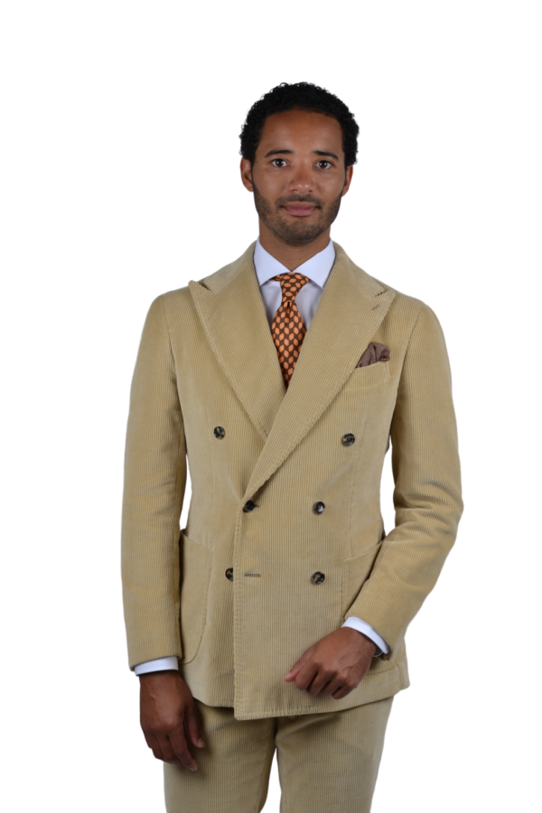 Stile Latino corduroy double breasted suit