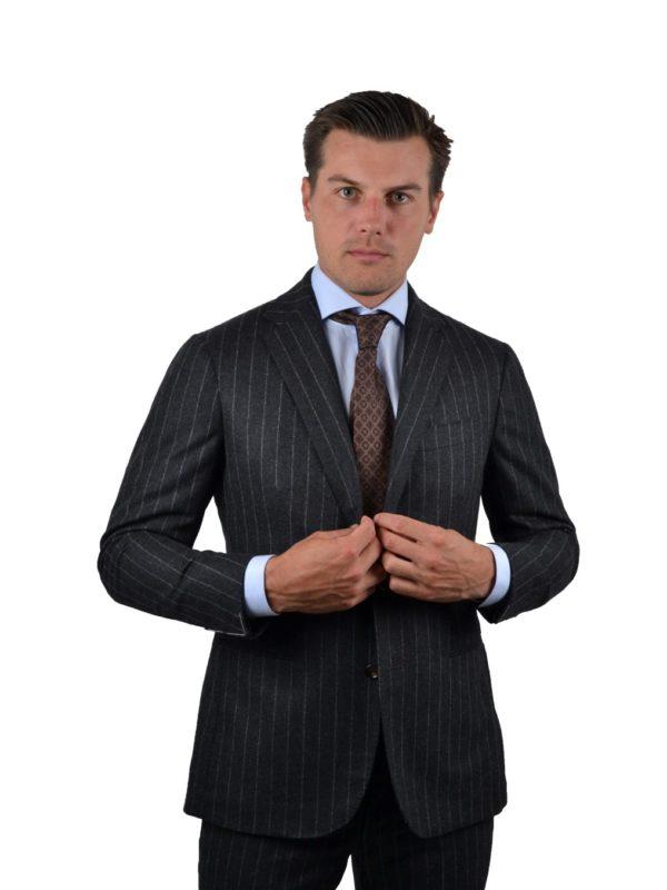 Stile Latino wool chalk stripe suit
