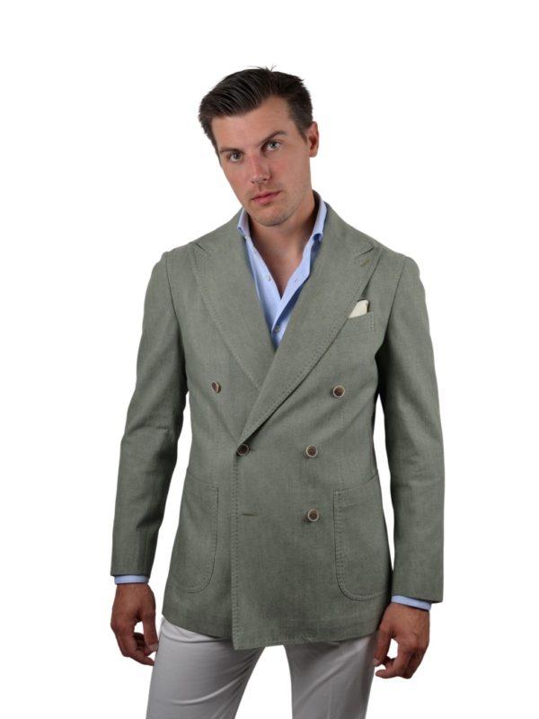 Stile Latino linen silk double breasted blazer