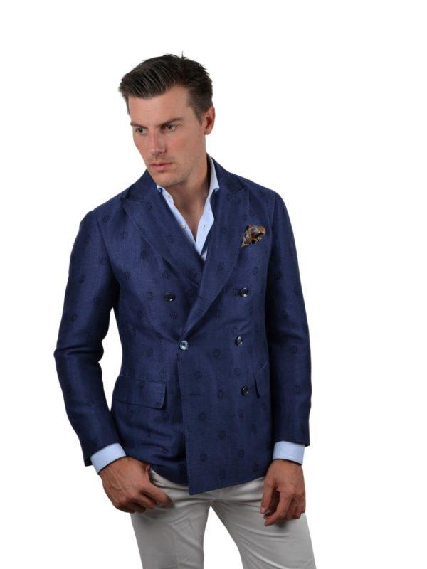 Stile Latino canapa wool silk blazer