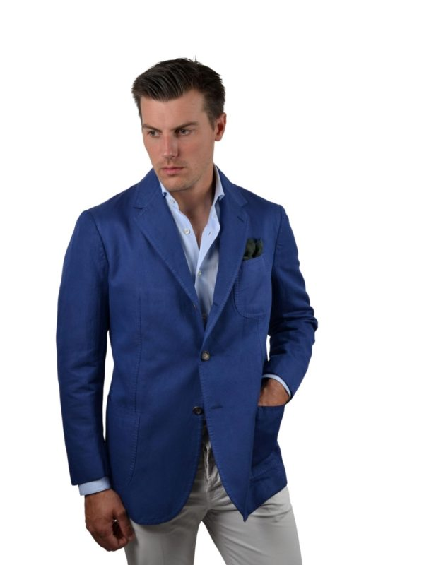 Stile Latino cotton ramie blazer
