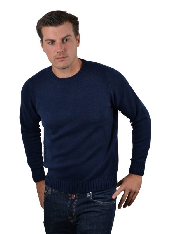 Stile Latino cashmere turtleneck sweater navy