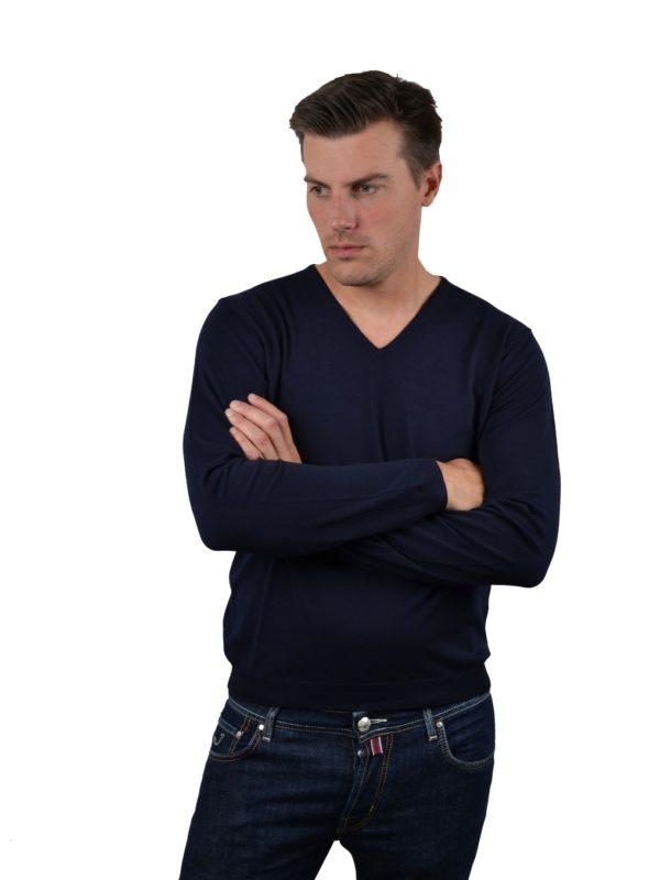 Stile Latino wool v-neck sweater
