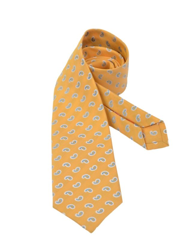 Isaia silk linen sevenfold tie