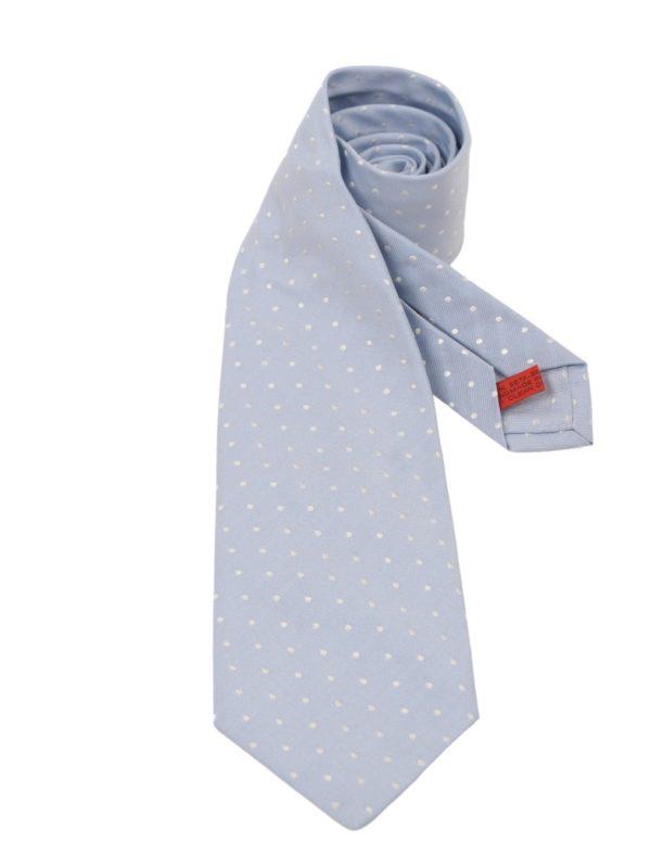 Isaia sevenfold silk tie