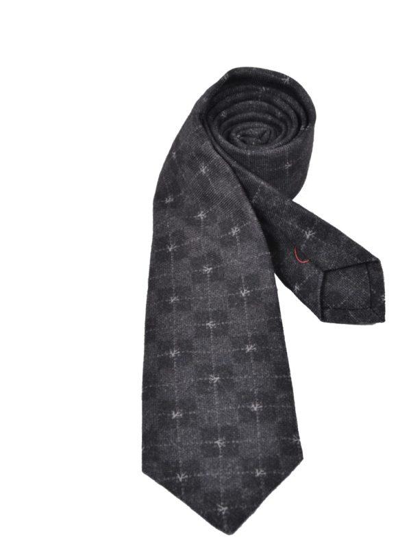 Isaia wool sevenfold tie