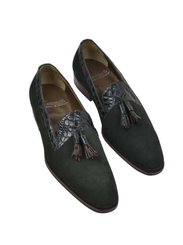 Ducal Firenze crocodile leather loafers