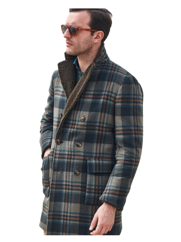 Stile Latino cashmere coat with wool lining