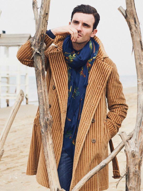 Stile Latino coat corduroy double breasted