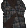 Stile Latino cashmere coat wool lining