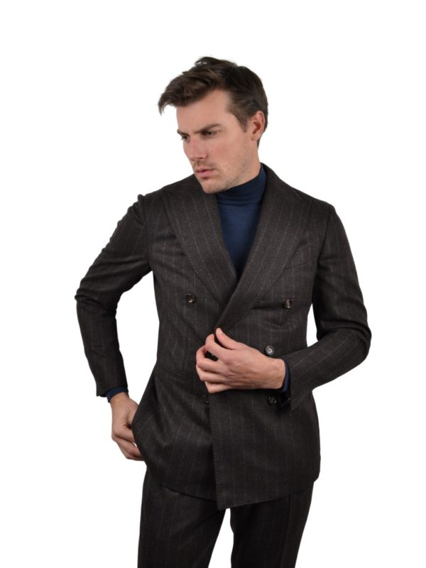 Stile Latino double breasted suit chalkstripe