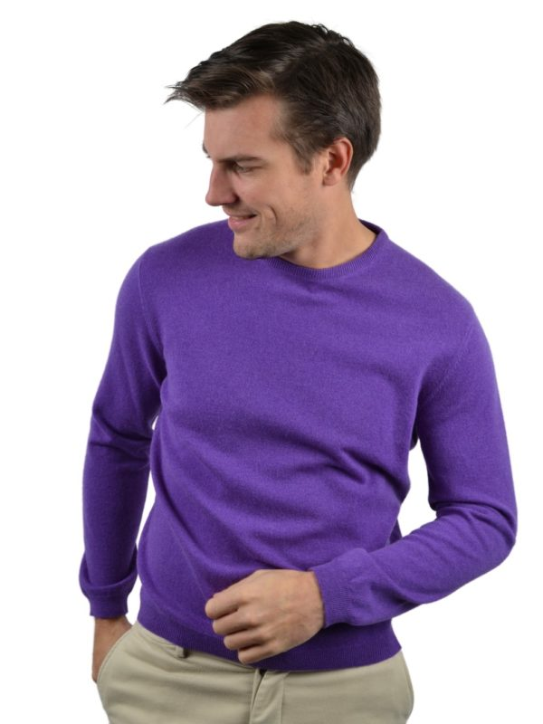 Stile Latino wool cashmere sweater purple