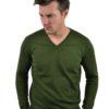 Stile Latino cashmere v neck sweater green