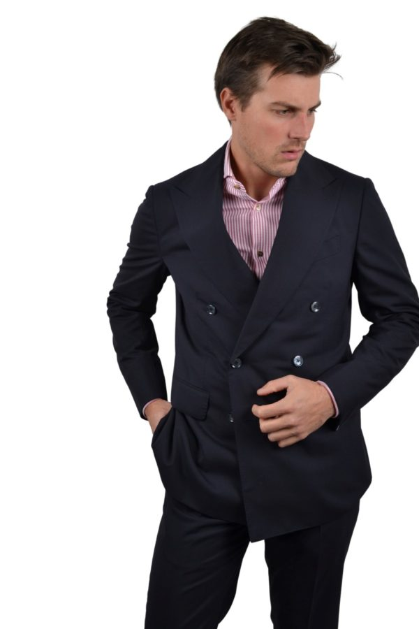 Stile Latino double breasted wool suit